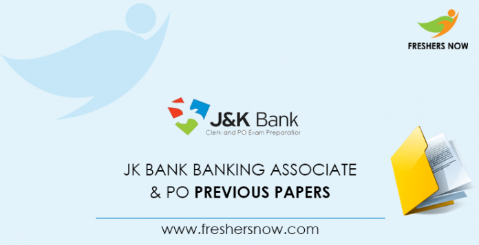 JK Bank Banking Associate Previous Question Papers