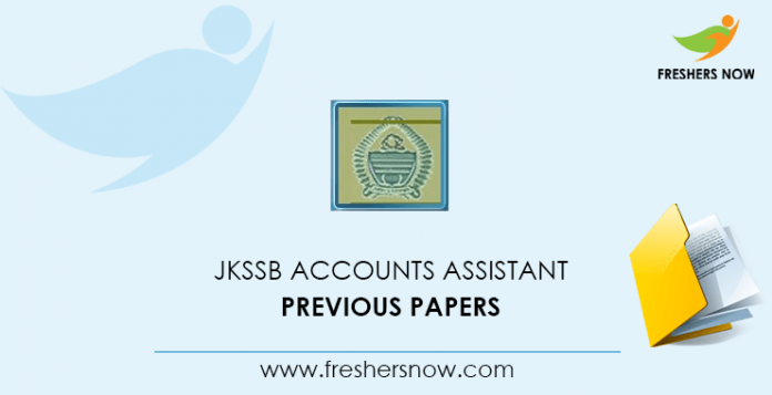 JKSSB Accounts Assistant Previous Question Papers