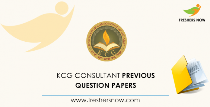 KCG Consultant Previous Question Papers