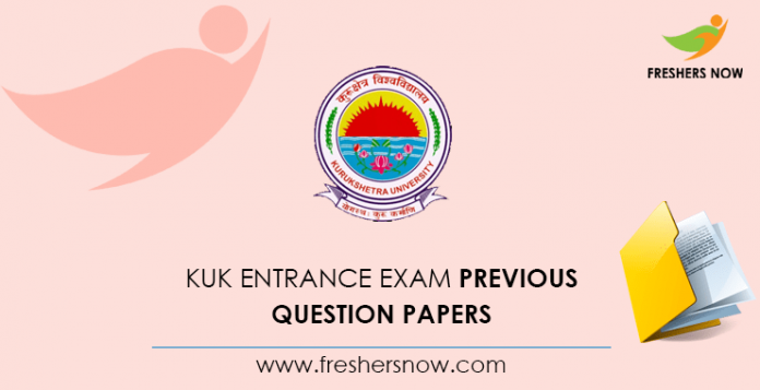 KUK Entrance Exam Previous Question Papers