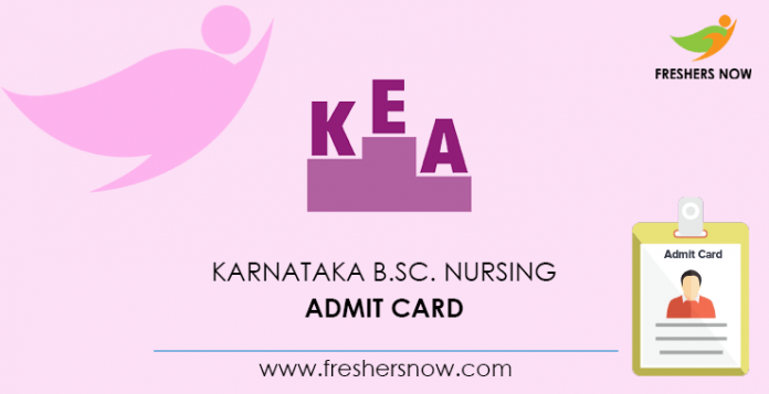 Karnataka B Sc Nursing Admit Card