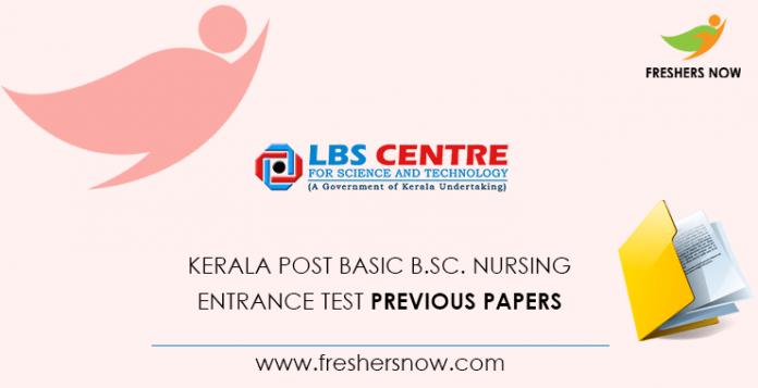Kerala Post Basic B.Sc. Nursing Entrance Test Previous Question Papers