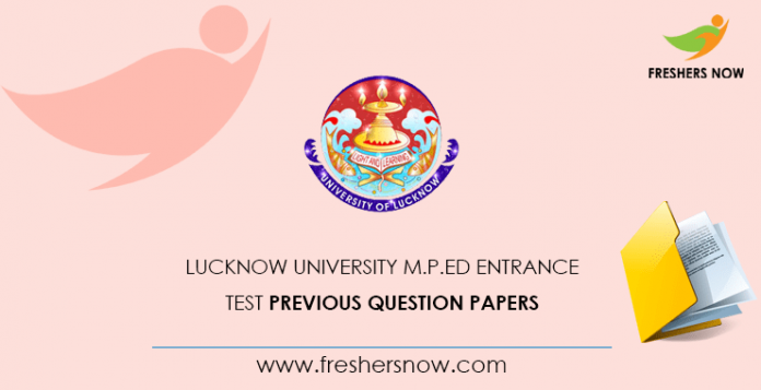 University of Lucknow M.P.Ed Entrance Test Documents from previous questions