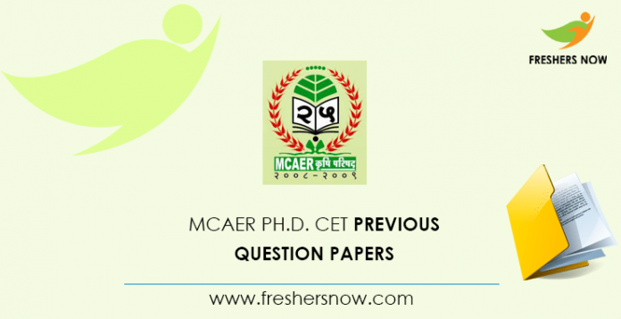 MCAER Ph.D. CET Documents from previous questions
