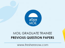 MOIL Graduate Trainee Previous Question Papers
