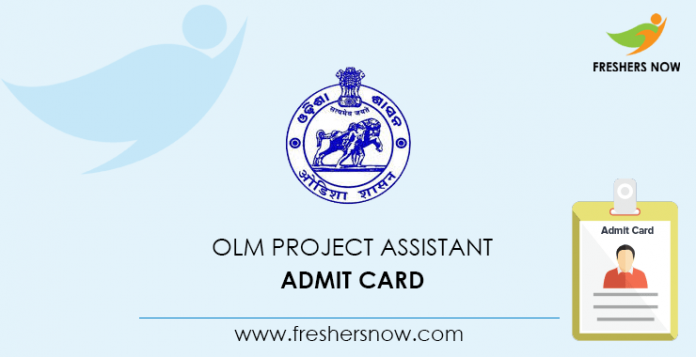 OLM Project Assistant Admit Card
