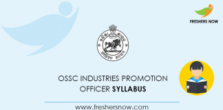 OSSC Industries Promotion Officer Syllabus 2020