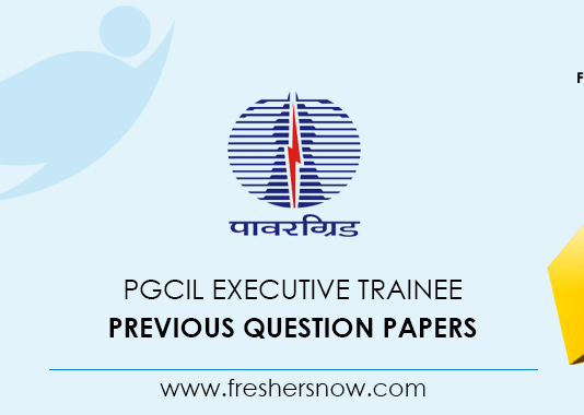 PGCIL Executive Trainee Previous Question Papers