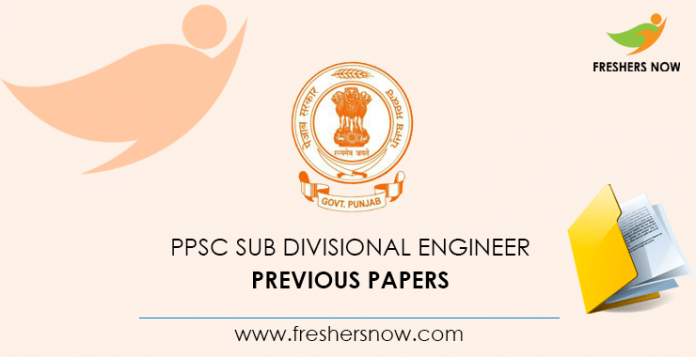 PPSC Sub Divisional Engineer Previous Question Papers