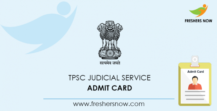 TPSC Judicial Service Admission Card