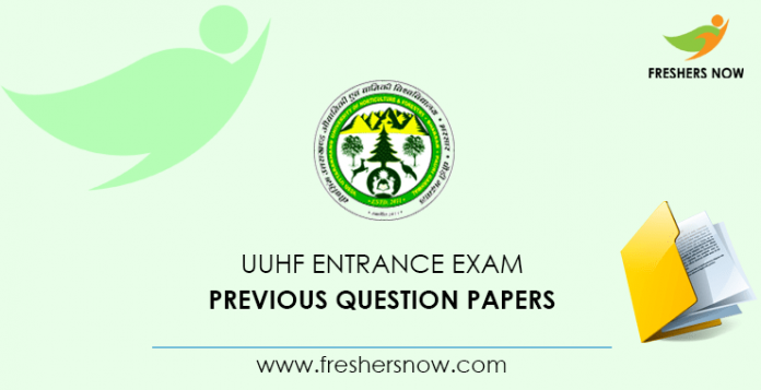 UUHF Entrance Exam Documents from previous questions