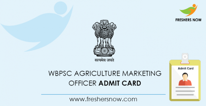 WBPSC Agriculture Marketing Officer Admit Card