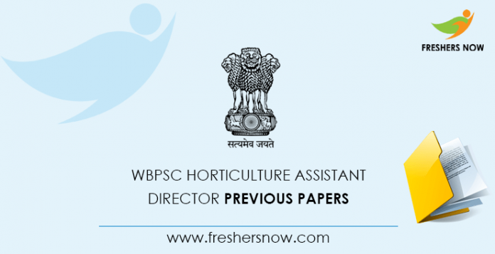 WBPSC Deputy Director of Horticulture Documents from previous questions