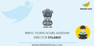 WBPSC Horticulture Assistant Director Syllabus 2020