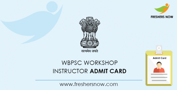 WBPSC Workshop Instructor Admit Card