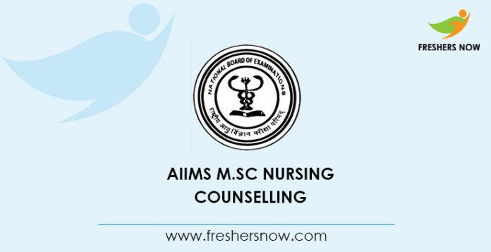 AIIMS M.Sc Nursing Counselling