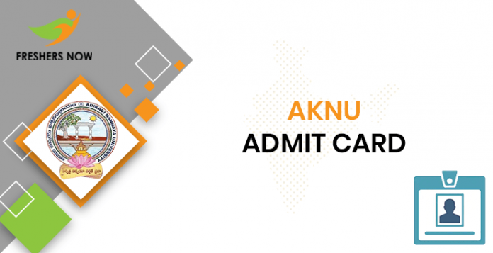 AKNU Hall Ticket