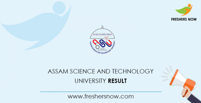 Assam Science and Technology University Result