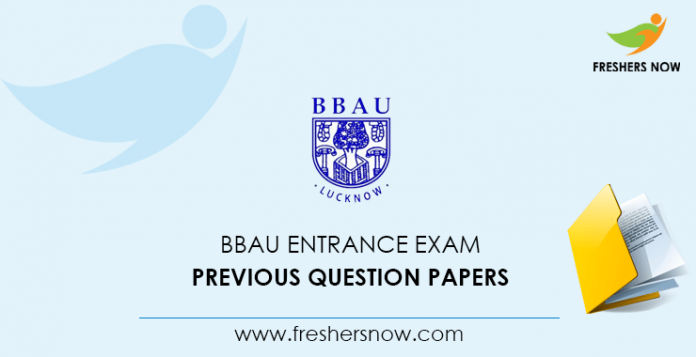 BBAU entrance exam Documents from previous questions