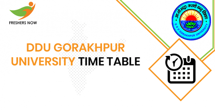 DDU Gorakhpur University Time Table