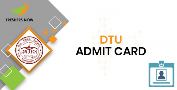 DTU Admit Card
