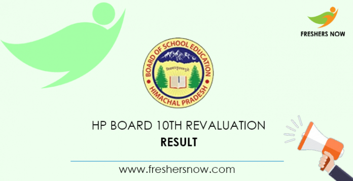 Result of the tenth revaluation of the HP board