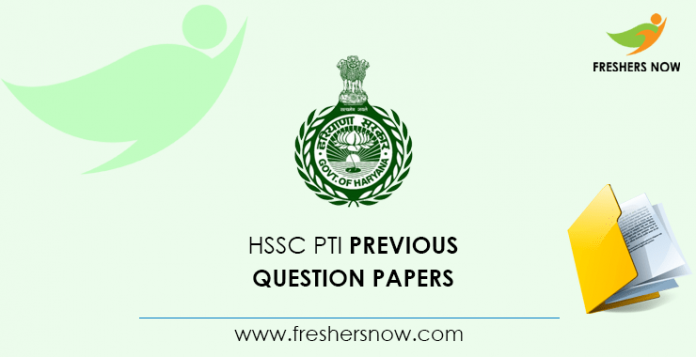 HSSC PTI Previous Question Papers
