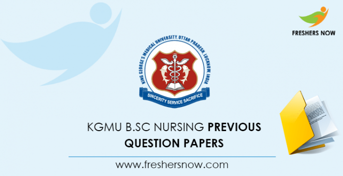 KGMU B.Sc Nursing Entrance Exam Previous Question Papers