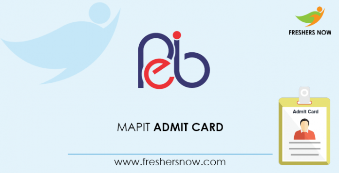 MAPIT Admit Card