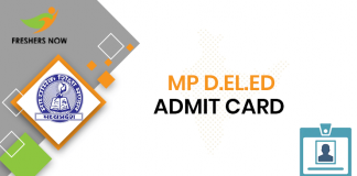 MP D.El.Ed Admit Card