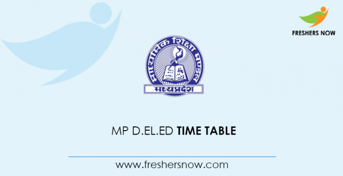 MP D.El.Ed Time Table