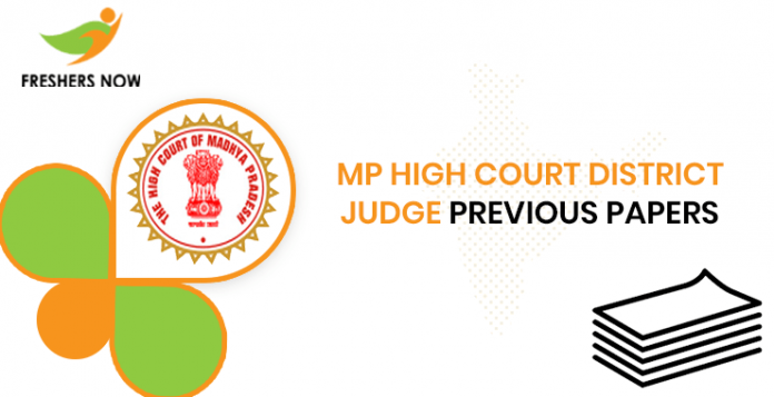 MP High Court District Judge Previous Question Papers