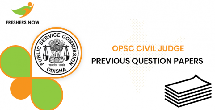 OPSC Civil Judge Previous Question Papers