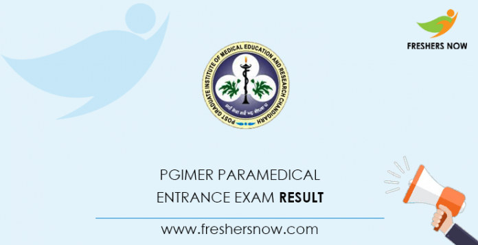 PGIMER Paramedical Entrance Exam Result