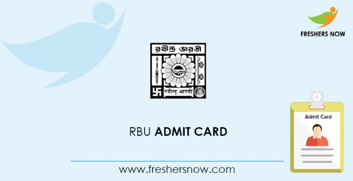 RBU Admit Card