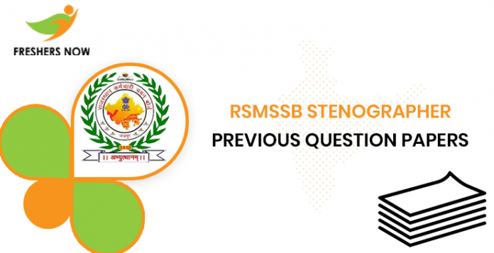 RSMSSB Stenographer Previous Question Papers