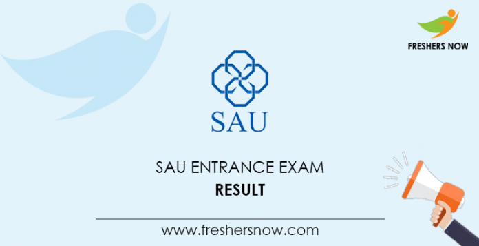 Result of the entrance exam to SAU