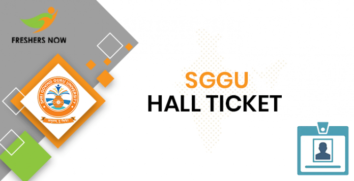 SGGU Hall Ticket