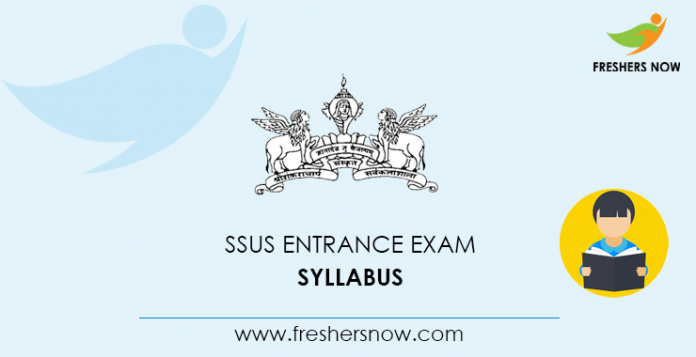 SSUS Entrance Exam Syllabus 2020