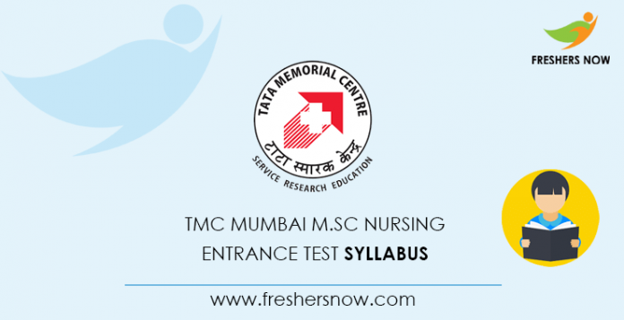 TMC Mumbai M.Sc Nursing Entrance Test Syllabus