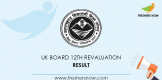 UK Board 12th Revaluation Result