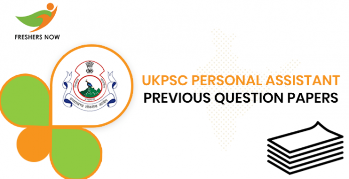 UKPSC Personal Assistant Previous Question Papers