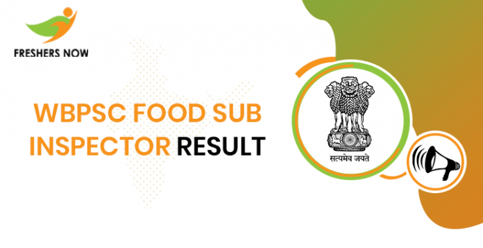WBPSC Food Sub Inspector Result