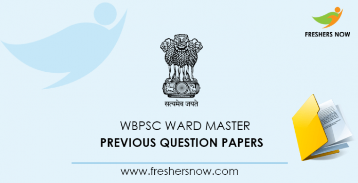 WBPSC Ward Master Previous Question Documents