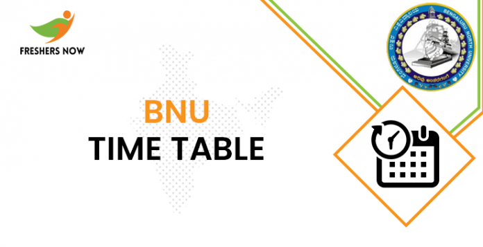 BNU Time Table