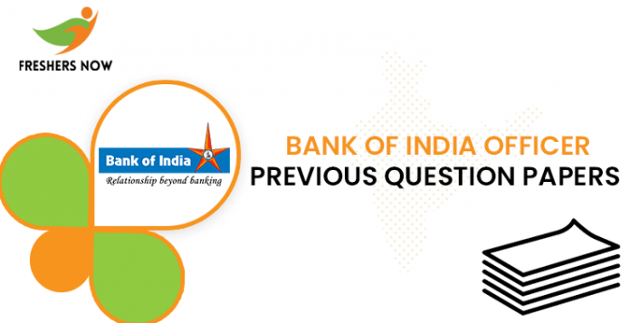Bank of India Officer Previous Question Papers