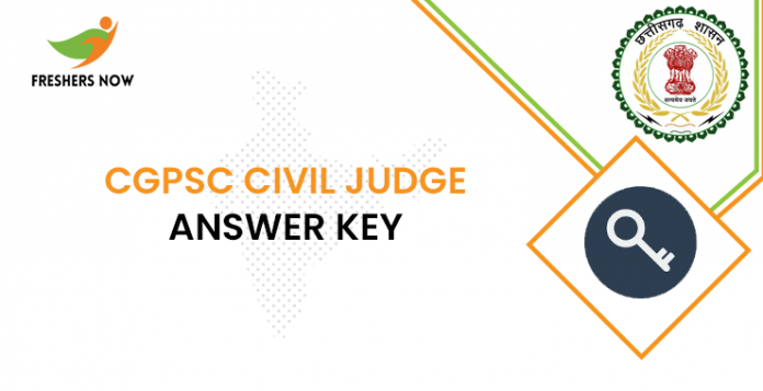 Answer key from the CGPSC civil judge