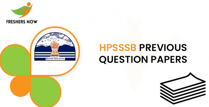 HPSSSB Junior Office Assistant Previous Question Documents