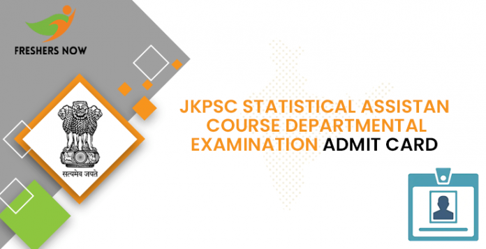 JKPSC Statistical Assistant Course Departmental Examination Admit Card