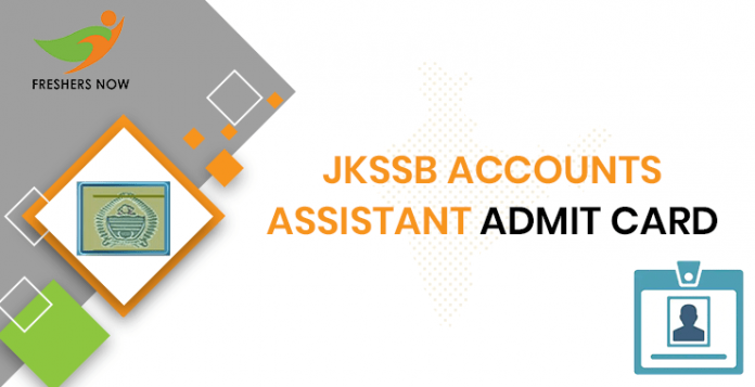 JKSSB Accounts Assistant Admit Card